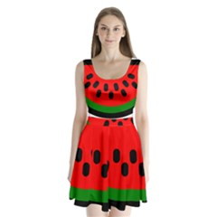 Watermelon Melon Seeds Produce Split Back Mini Dress