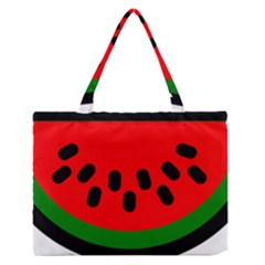 Watermelon Melon Seeds Produce Medium Zipper Tote Bag