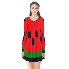 Watermelon Melon Seeds Produce Flare Dress