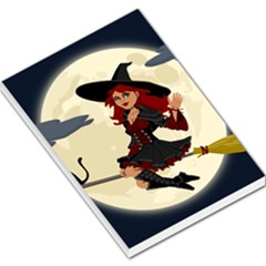 Witch Witchcraft Broomstick Broom Large Memo Pads