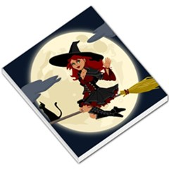 Witch Witchcraft Broomstick Broom Small Memo Pads