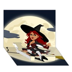 Witch Witchcraft Broomstick Broom LOVE Bottom 3D Greeting Card (7x5)