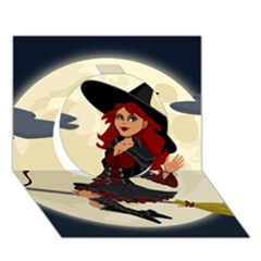 Witch Witchcraft Broomstick Broom Circle 3D Greeting Card (7x5)