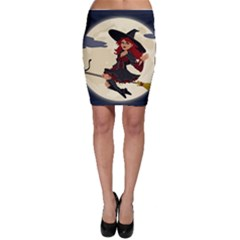 Witch Witchcraft Broomstick Broom Bodycon Skirt