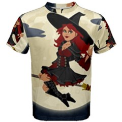 Witch Witchcraft Broomstick Broom Men s Cotton Tee