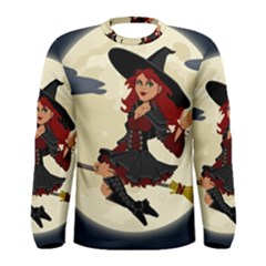 Witch Witchcraft Broomstick Broom Men s Long Sleeve Tee