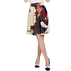 Witch Witchcraft Broomstick Broom A-Line Skirt