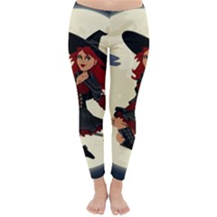 Witch Witchcraft Broomstick Broom Classic Winter Leggings