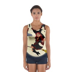 Witch Witchcraft Broomstick Broom Women s Sport Tank Top