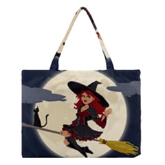 Witch Witchcraft Broomstick Broom Medium Tote Bag