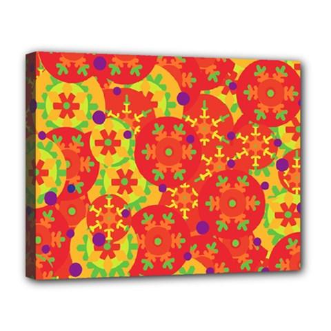Orange design Canvas 14  x 11