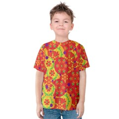 Orange design Kids  Cotton Tee