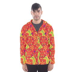 Orange design Hooded Wind Breaker (Men)