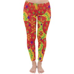 Orange design Classic Winter Leggings