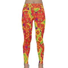 Orange design Classic Yoga Leggings