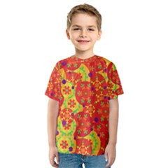 Orange design Kids  Sport Mesh Tee