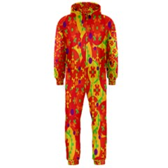 Orange design Hooded Jumpsuit (Men)