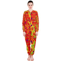 Orange design OnePiece Jumpsuit (Ladies)