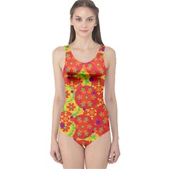 Orange design One Piece Swimsuit