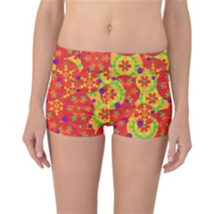 Orange design Reversible Boyleg Bikini Bottoms