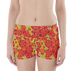Orange design Boyleg Bikini Wrap Bottoms