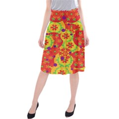 Orange design Midi Beach Skirt