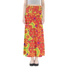 Orange design Maxi Skirts