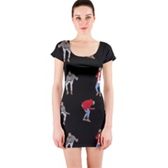 Drake Ugly Holiday Christmas Short Sleeve Bodycon Dress