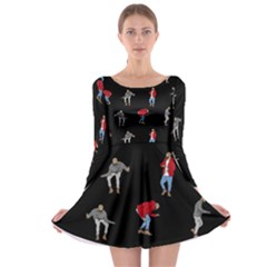 Drake Ugly Holiday Christmas Long Sleeve Skater Dress