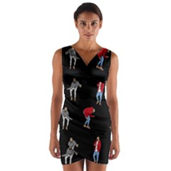 Drake Ugly Holiday Christmas Wrap Front Bodycon Dress