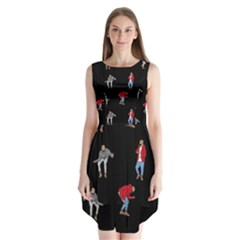 Drake Ugly Holiday Christmas Sleeveless Chiffon Dress