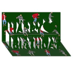 Drake Ugly Holiday Christmas 2 Happy Birthday 3d Greeting Card (8x4)