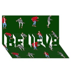 Drake Ugly Holiday Christmas 2 BELIEVE 3D Greeting Card (8x4)