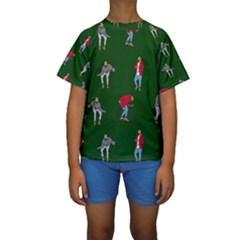 Drake Ugly Holiday Christmas 2 Kids  Short Sleeve Swimwear