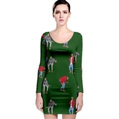 Drake Ugly Holiday Christmas 2 Long Sleeve Bodycon Dress