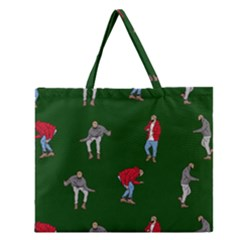 Drake Ugly Holiday Christmas 2 Zipper Large Tote Bag