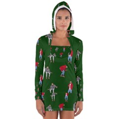 Drake Ugly Holiday Christmas 2 Women s Long Sleeve Hooded T Shirt