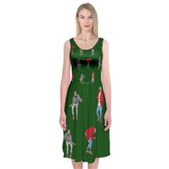 Drake Ugly Holiday Christmas 2 Midi Sleeveless Dress