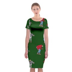 Drake Ugly Holiday Christmas 2 Classic Short Sleeve Midi Dress