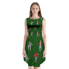 Drake Ugly Holiday Christmas 2 Sleeveless Chiffon Dress
