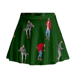 Drake Ugly Holiday Christmas 2 Mini Flare Skirt
