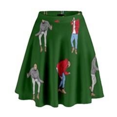 Drake Ugly Holiday Christmas 2 High Waist Skirt
