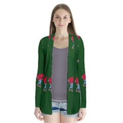 Drake Ugly Holiday Christmas 2 Drape Collar Cardigan