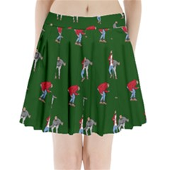 Drake Ugly Holiday Christmas 2 Pleated Mini Skirt