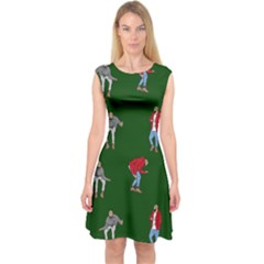 Drake Ugly Holiday Christmas 2 Capsleeve Midi Dress