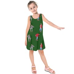 Drake Ugly Holiday Christmas 2 Kids  Sleeveless Dress