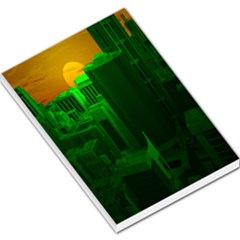 Green Building City Night Large Memo Pads