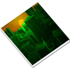 Green Building City Night Small Memo Pads