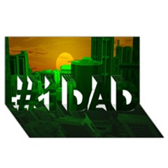 Green Building City Night #1 DAD 3D Greeting Card (8x4)