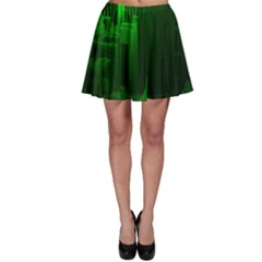 Green Building City Night Skater Skirt